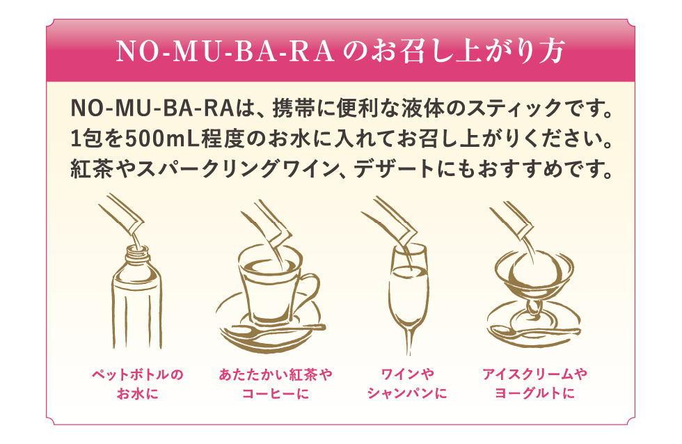 NO-MU-BA-RAの楽しみ方